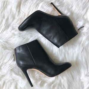 SAM EDELMAN Black Leather High Heel Ankle Boot 7.5